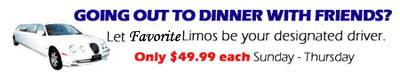 NJ Limousine Service Dinner